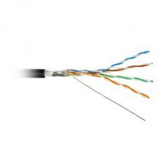 F/UTP,кат.5Е 4*2*24АWG solid,LDPE,чер.ITK кабель в