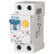 Диф. авт. выключатель PFL7-20/1N/C/003, 1P+N, 20A, хар-ка C, 10kA, 30mA, тип АC, 2M 263543