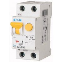 Диф. авт. выключатель PFL7-25/1N/C/003, 1P+N, 25A, хар-ка C, 10kA, 30mA, тип АC, 2M 263549