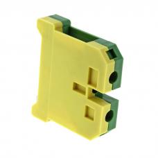 Зажим клеммный EK-2.5/35 (желто-зеленый)