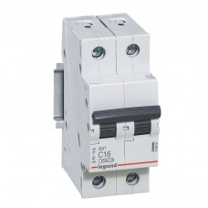 Выключатель автоматический Legrand RX3 2P C 6A 4,5кА 2M