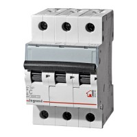 Выключатель автоматический Legrand RX3 3P C 10A 4,5кА 3M