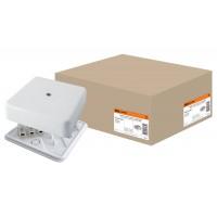 КР 75х75х20 ОП коробка распаячная с клем. колодкой, белая IP40 TDM