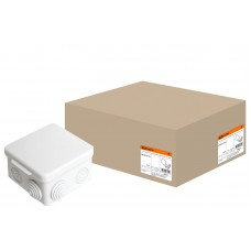 80*80*50мм ОП IP54 коробка распаячная, крышка, 7 вх. TDM