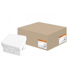 65*65*50мм ОП IP54 коробка распаячная, крышка,4 вх. TDM