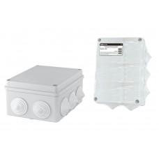 150х110х70мм, крышка, IP55, 10 гермовводов, распаячная коробка ОП TDM