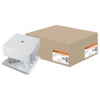 100*100*44мм КР ОП IP40 коробка распаячная с клем. колодкой, белаяTDM
