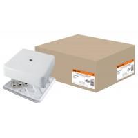 100*100*29мм КР ОП IP40 коробка распаячная с клем. колодкой, белаяTDM