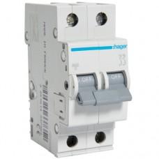 Автоматический выключатель  50/2/С (6kА)  Hager