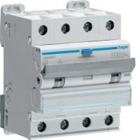 Дифференциальный автоматический выключатель  40/4/C/003 тип A (6kA) Hager