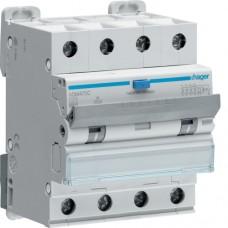 Дифференциальный автоматический выключатель  25/4/C/003 тип A (6kA) Hager