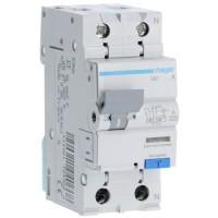 Дифференциальный автоматический выключатель 10/1N/B/003 тип A (6kA) Hager