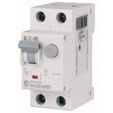 Диф. авт. выключатель HNB-C25/1N/003, 1P+N, 25A, хар-ка C, 6kA, 30mA, тип АC, 2M