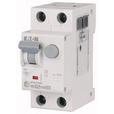 Диф. авт. выключатель HNB-B25/1N/003, 1P+N, 25A, хар-ка B, 6kA, 30mA, тип АC, 2M