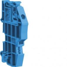 Держатель шин 10х3 мм на ДИН-рейку синий Hager