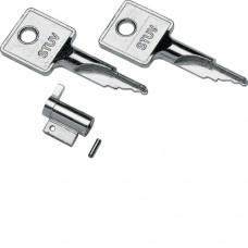 Замок дверной с 2-я ключами для щитков  Hager - Mini