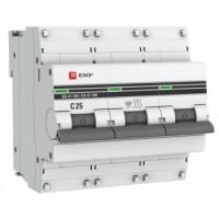 Автоматический выключатель ВА 47-100, 3P 25А (C) 10kA EKF PROxima