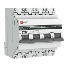 Автоматический выключатель ВА 47-63, 4P 32А (C) 4,5kA EKF PROxima