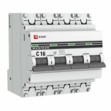 Автоматический выключатель ВА 47-63, 4P 16А (C) 4,5kA EKF PROxima