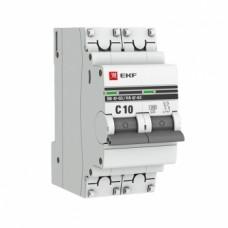 Автоматический выключатель ВА 47-63, 2P 10А (C) 4,5kA EKF PROxima