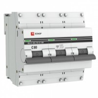 Автоматический выключатель ВА 47-100, 3P 80А (C) 10kA EKF PROxima