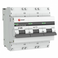 Автоматический выключатель ВА 47-100, 3P 125А (C) 10kA EKF PROxima