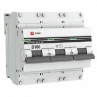 Автоматический выключатель ВА 47-100, 3P 100А (D) 10kA EKF PROxima