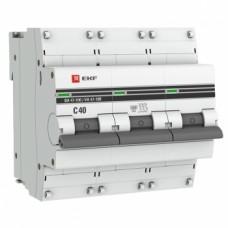 Автоматический выключатель ВА 47-100, 3P 40А (C) 10kA EKF PROxima