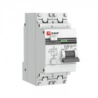 Дифференциальный автомат АД-32 1P+N  6А/30мА (хар. C, AC, электронный, защита 270В) 4,5кА EKF PROxim